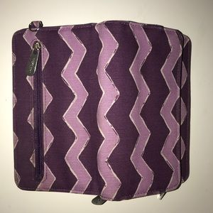 Thirty One Purple Chevron Wallet